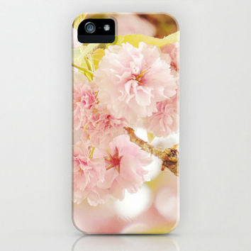 iPhone 5 Case - Pink iPhone Case - Pastel iPhone Case - Plastic iPhone Case for iPhone 5 5s 5c 4 4s - Pink Flower Phone Case