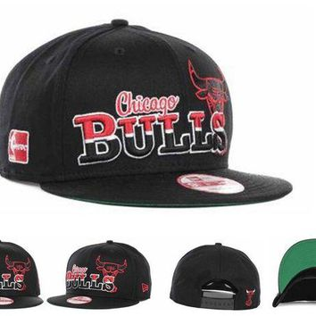ONETOW Chicago Bulls Nba Cap Snapback Hat - Ready Stock