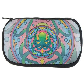 MDIGCY8 Mandala Trippy Stained Glass Octopus Makeup Bag