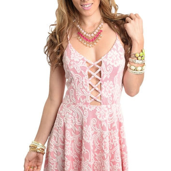 Criss Cross Cutout Skater Dress