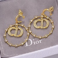 DIOR New Hot Sale Fashion Diamond Women's High-End Earrings