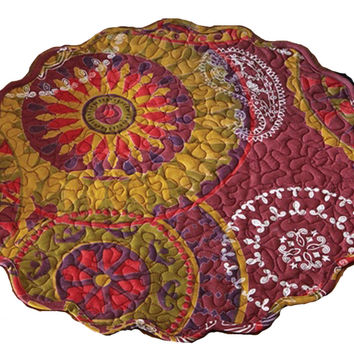 Moroccan Mediallion and Paisley Pattern Placemats Set of 4