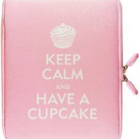 NeoSkin iPad Zip Sleeve, Keep Calm and Have a Cupcake (fits iPad 2 and new iPad) (Neoprene iPad Cover, iPad Case)