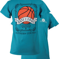 Southern Couture Preppy Vintage Basketball Sports Girlie Bright T Shirt