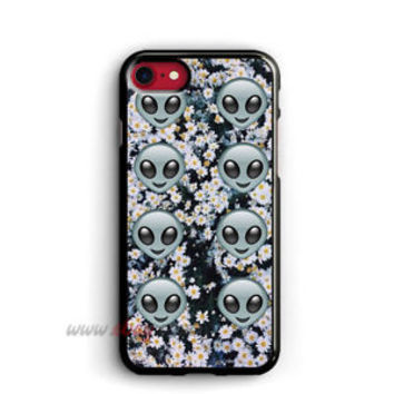 Psychedelic Alien Emoji iphone cases Floral samsung galaxy case ipod cover