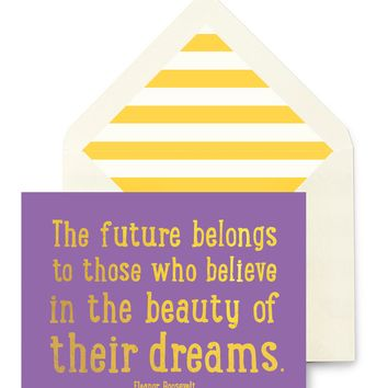 The Future Belongs Greeting Card, Single Folded Card or Boxed Set of 8