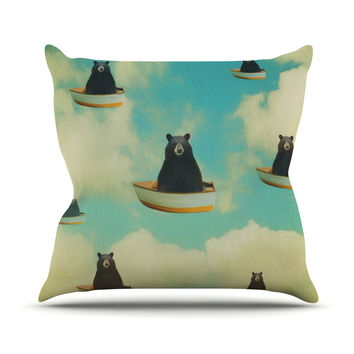 "Natt ""Bears"" Floating Animals Throw Pillow"
