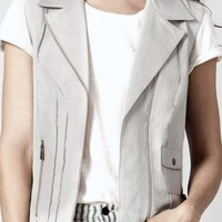 Miss Grey Leather Vest - New Arrivals | AS by DF