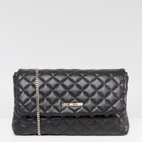 Love Moschino Quilted Chain Strap Bag at asos.com