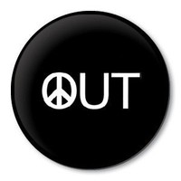 PEACE OUT - peace sign pinback button badge - 1.5 inch / 38 mm pin | ZippyPins - Accessories on ArtFire