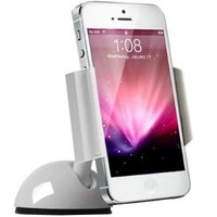 Amazon.com: Koomus Dashboard Windshield iPhone Car Mount Holder for iPhone 5 4S 4 3GS iPod Touch Samsung Galaxy S3 Google Droid GPS Smartphone car mount in White: Cell Phones & Accessories
