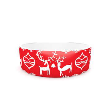 "Miranda Mol ""Antler Fun Red"" Holiday Pet Bowl"