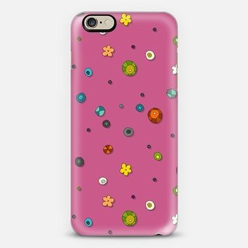 pink pop flower spot iPhone 6 case by Sharon Turner | Casetify