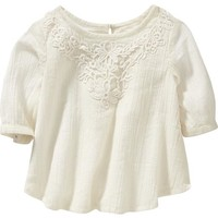 Old Navy Lace Applique Gauze Top For Baby