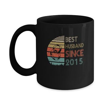 4th Wedding Anniversary Gifts Best Husband Since 2015 Mug