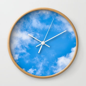 Summer Clouds Wall Clock by ARTPICS