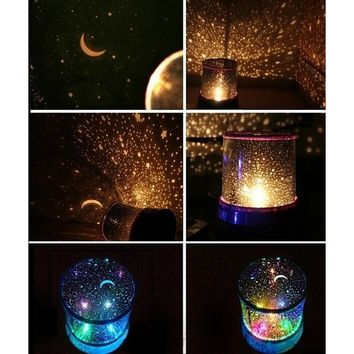 New Sky Star Master Night Light Projector LED Lamp Fun Master Children Living Room Gift (Color: Multicolor)