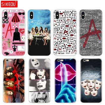 Silicone Cover Phone Case For Iphone 6 X 8 7 6s 5 5s SE Plus 10 Case Pretty Little Liars