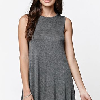LA Hearts Jersey Knit Sleeveless Swing T-Shirt Dress - Womens Dress