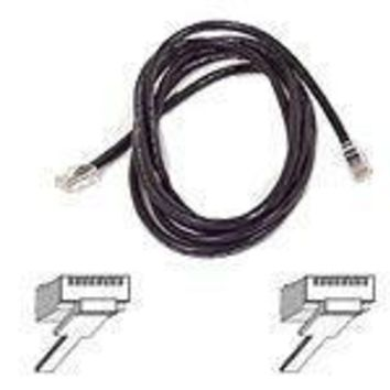 Belkinponents 7ft Cat5e Patch Cable, Utp, Black Pvc Jacket, 24awg, T568b, 50 Micron, Gold Plat