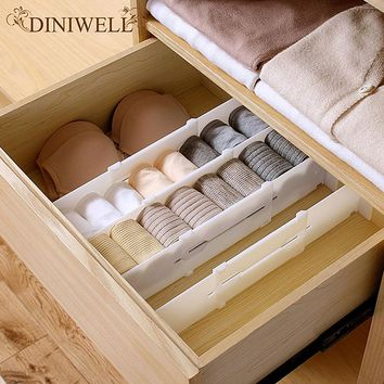DINIWELL Retractable Adjustable Stretch Plastic Drawer Divider Organizer Storage Partition Board Multi-Purpose Diy Home OFFice