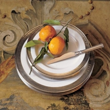Match Pewter |  Convivio Classic White Dinnerware