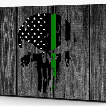 Punisher Distressed Thin Green Line Vinyl Laptop Computer Skin Sticker Decal Wrap Macbook Various Sizes