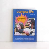 Vintage 1970s Campus Life Magazine - College Students - Johnny Cash