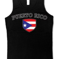 Puerto Rico Flag Shield International Soccer Juniors Tank Top, Puerto Rican National Pride Juniors Boy Beater
