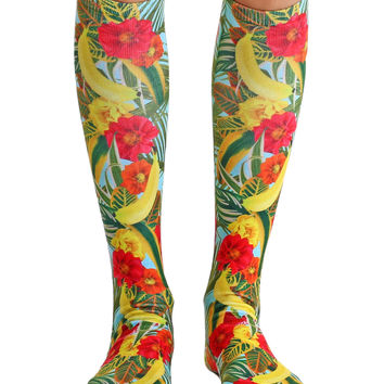 Tropical Knee High Socks