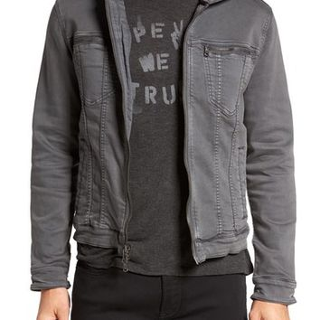 John Varvatos Star USA Hooded Denim Jacket | Nordstrom