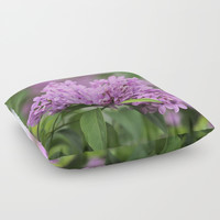 Lilac Bouquets Floor Pillow by Theresa Campbell D'August Art