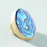 Paua Shell Cocktail Ring