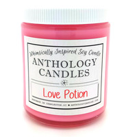 Love Potion Candle - Whimsically Inspired Soy Candle, Book Candle, Scented Soy Candle, 8oz Jar