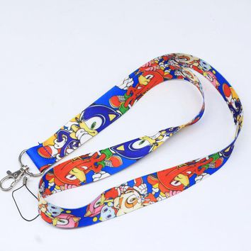 Brand New Sonic Characters Blue Lanyard 1
