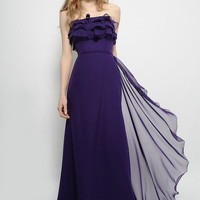 Wholesale Chiffon Column or Sheath Strapless Floor Length Bridesmaid Gown Style 7371 ,for $153.28 only in VikiDress.com.