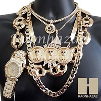 Watch Yachty QC MIGOS Herringbone Hollow Gucci Miami Cuban Chain Set 1