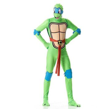 Teenage Mutant Ninja Turtles Cosplay Costume Clothing Zentai Suit Men Jumpsuits Mask Toy Shell Weapon Halloween Costumes Adults