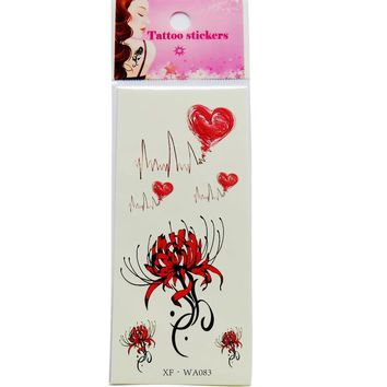 Tattoo Sticker Waterproof Temporary Tattoos 3D Butterfly Flower
