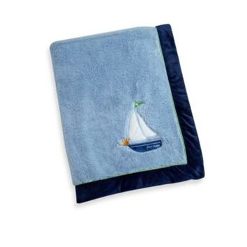 Wendy Bellissimo™ Mix & Match Sailboat Applique Plush Blanket in Blue