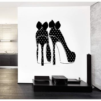 Wall Decals Fashion High Heel Shoes Vinyl Sticker Unique Gift z3264