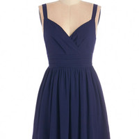 ModCloth Nautical Sleeveless A-line Elegant at Evenfall Dress