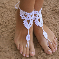 Cotton  Hand Knit Yoga Beach Barefoot Sandals Cotton Anklets B007689