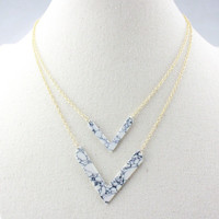 Stylish New Arrival Jewelry Shiny Gift Strong Character Fashion Double-layered Turquoise Set Necklace [4956896644]