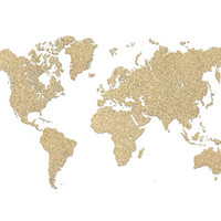 Gold glitter world map Art Print by blursbyaiShop | Society6