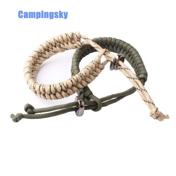 CAMPINGSKY Bundle of 2 Premium Fish Tail 500 lb Paracord Survival Bracelets With Metal Clasp (custom size and color)