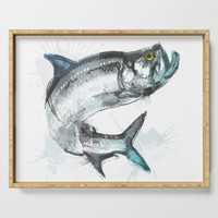 Tarpon Fish Serving Tray by allisonreich