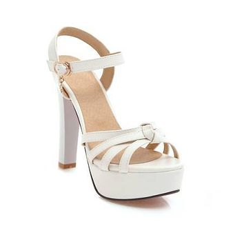 Summer Sandals Pumps Platform High-heeled Shoes Woman 12CM