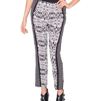 Collage Lounge Pants - Black/Ivory