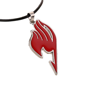 2016 New Fashion Hot sale Drop Shipping Charming Jewelry Alloy Fairy Tail Guild Sign Pendant Necklace 4 Colors drop shipping